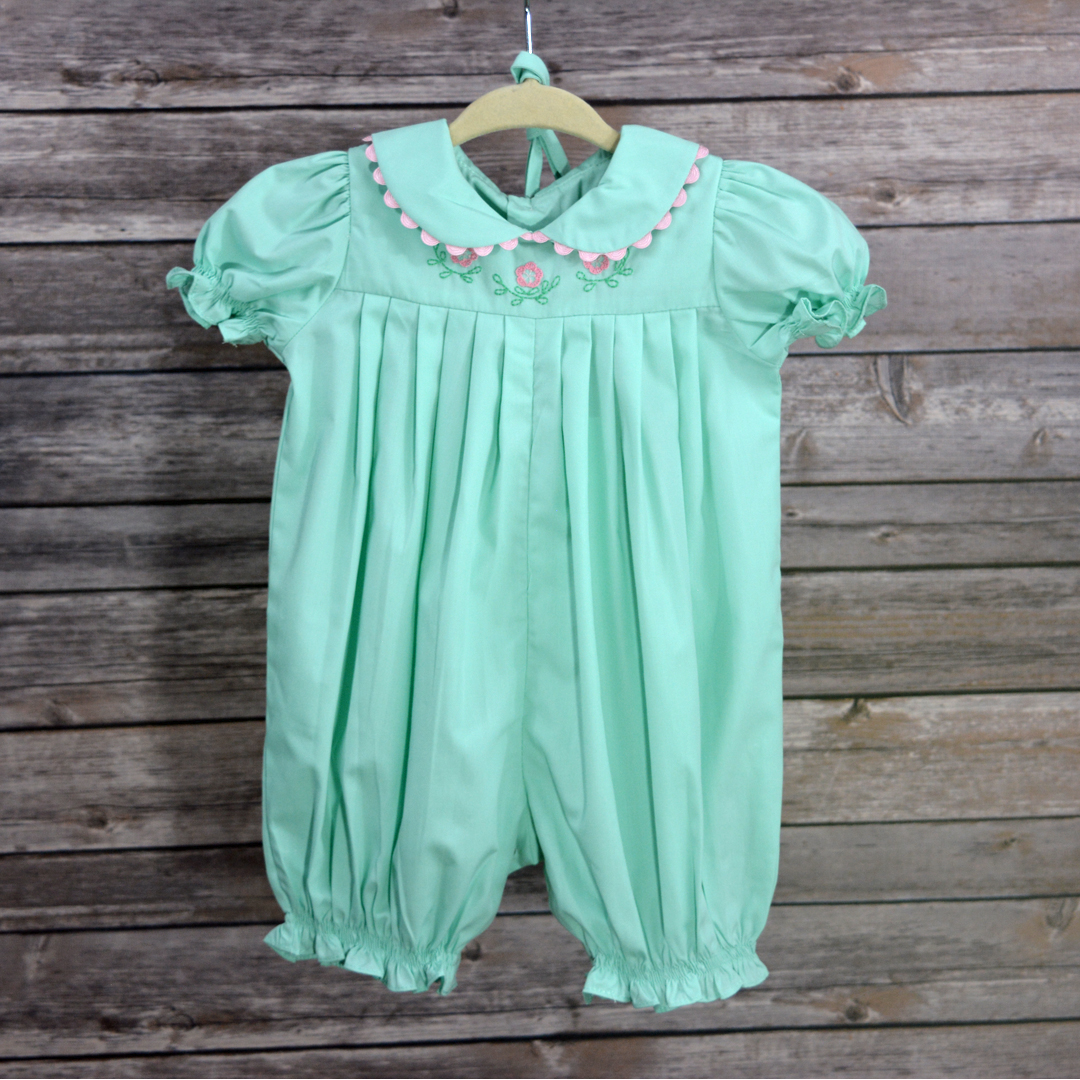 Mint Smocked Pleated Bubble | Princess and Punks