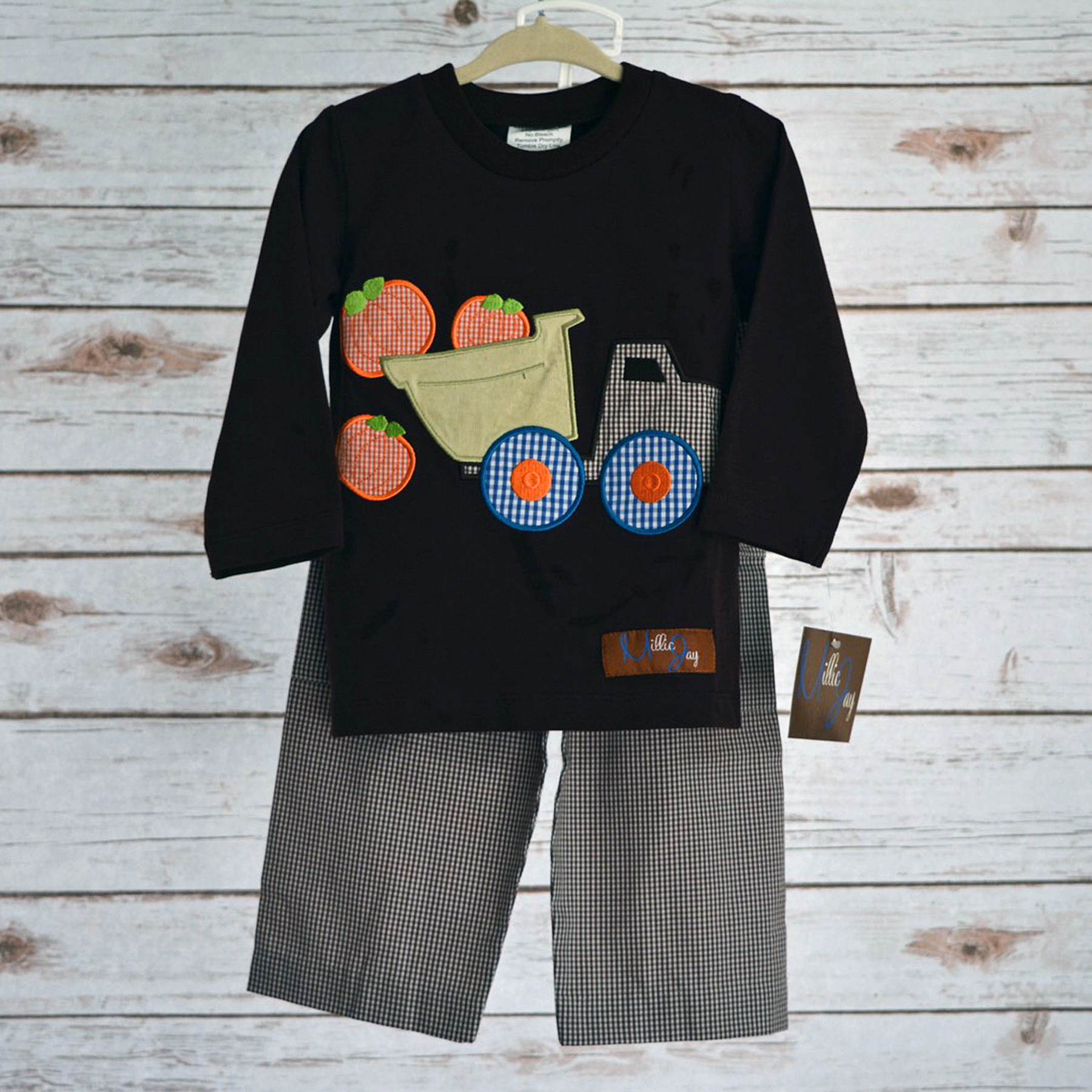 Pumpkin Boys Applique T Shirt Amp Pants Princess And Punks