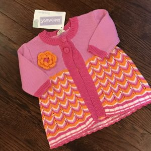 Pink and Orange Sweater with Chevron